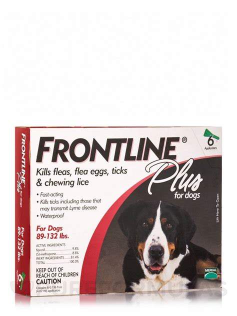 frontline plus for dogs 89 132 lbs frontline 174 plus for dogs 89 132 lbs 6 applicators