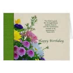 birthday floral bouquet religious greeting card zazzle