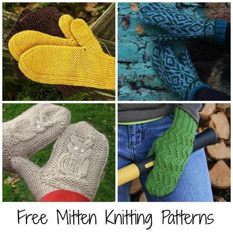 how do you knit mittens 10 free mitten patterns to knit