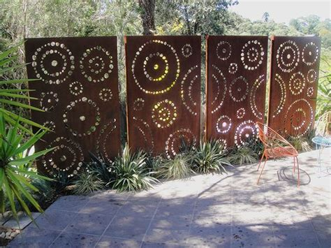 backyard privacy panels best 25 metal fence panels ideas on metal