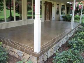 outdoor porch flooring concrete how to choose types