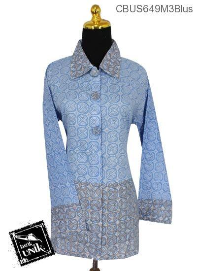 Kemeja Batik Kawung Grompol Printing Lengan Panjang baju batik sarimbit blus motif kawung kombinasi warna soft