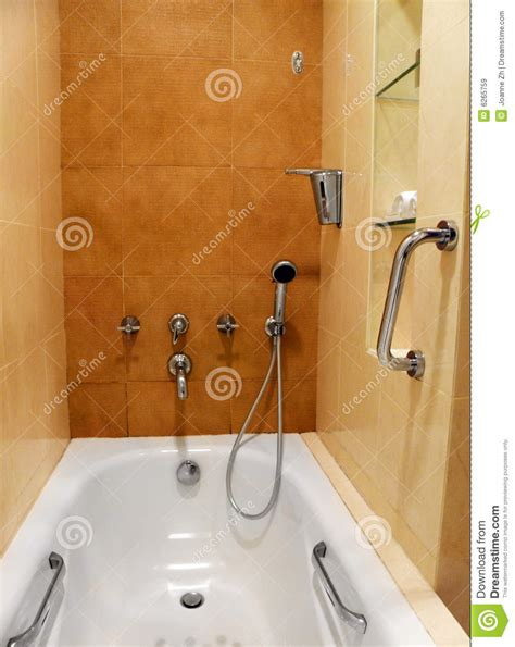 how to fit a bathtub in a small bathroom bathroom taps and fittings stock image image of handrail
