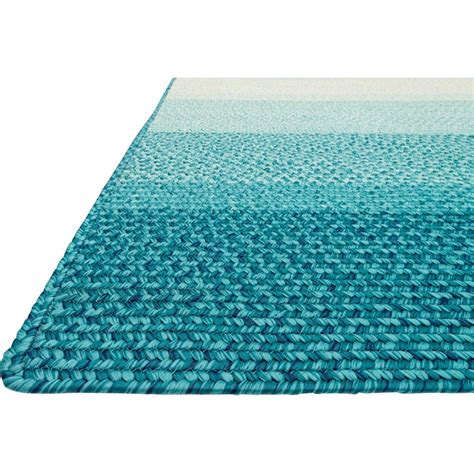 Aqua Outdoor Rug Zadie Coastal Stripe Blue Aqua Outdoor Rug 3 6x5 6 Kathy Kuo Home
