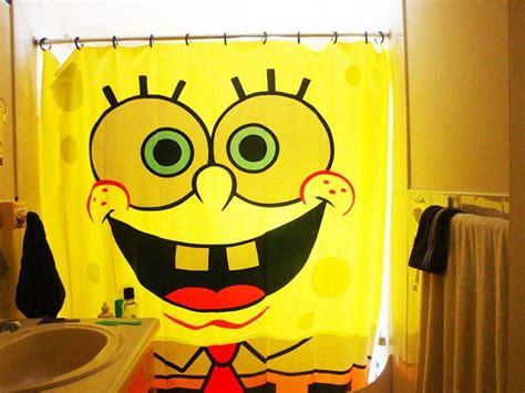 spongebob squarepants shower curtain kids shower curtain ideas cool bathrooms decozilla