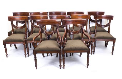 12 Dining Chairs Set 12 Regency Style Mahogany Dining Chairs Regency Style Chair Set Ref No 03736