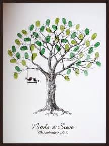 wedding trees large personalised wedding fingerprint thumbprint tree alternative guest book ebay