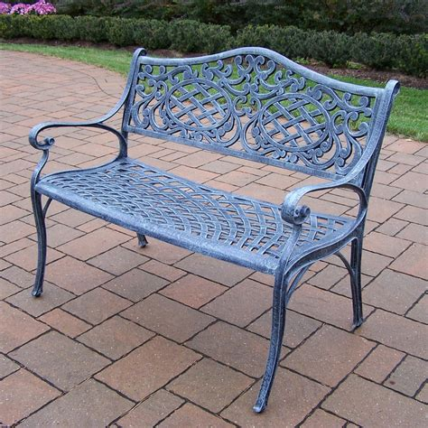 outdoor settee bench oakland living mississippi cast aluminum settee bench in