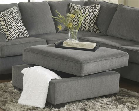 loric  smoke grey sectional sofa living spaces ashley home store furniture san diego ca