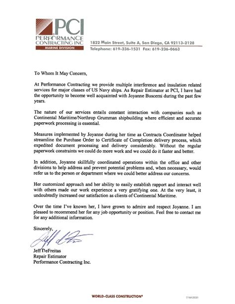 Customer Letter Of Recommendation Customer Recommendation Letter