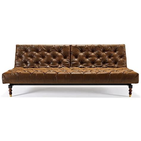 Leather Chesterfield Sofa Bed Sale Oldschool Chesterfield Sofa Bed Black Brown Leather Look Dcg Stores