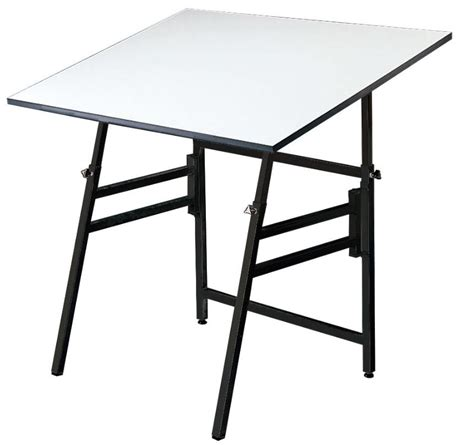 Folding Drafting Table 24x36 Black Professional Folding Adjustable Drafting Table Tilts 0 45 176