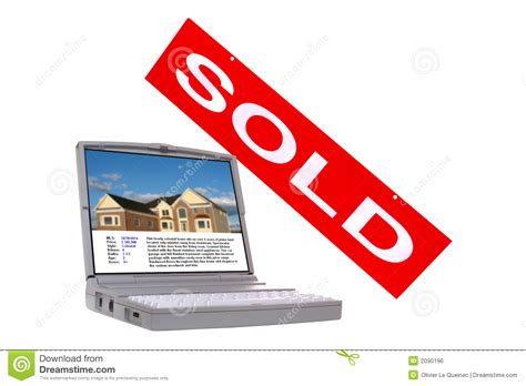real estate houses sold real estate property listing screen and sold sign royalty free stock image image