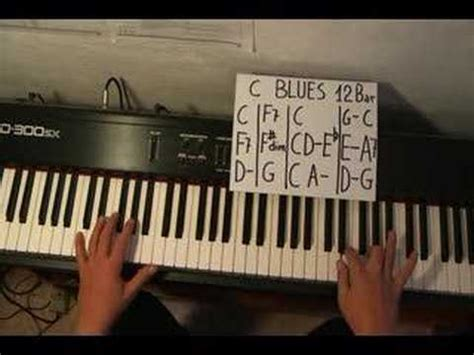 youtube tutorial blues piano piano blues in c 12 bar easy lesson youtube