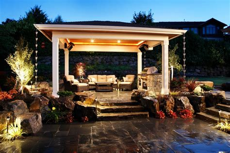 outdoor sitting this quiet backyard patio features a covered sitting area