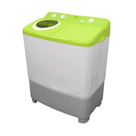 Mesin Cuci Polytron Dua Tabung harga polytron pwm 9556 hijau mesin cuci 2 tabung 7 5 kg