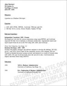 Basic Resume Template by Visual Basic Developer Resume Exle Software Development Career