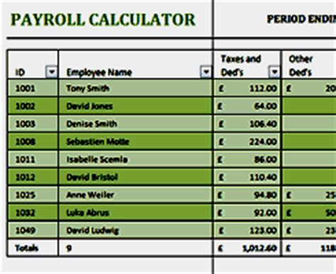 Business And Finance Free Excel Templates From Activia Training Payroll Calculator Template For Excel
