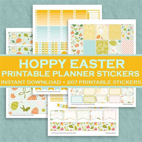 free printable easter planner stickers hoppy easter printable planner stickers 207 printable