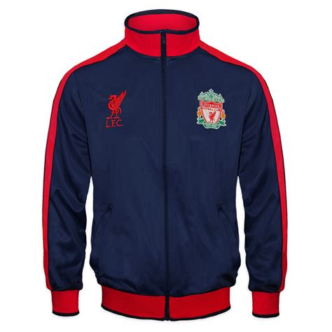 Jaket Treasked Liverpool liverpool fc official football gift boys retro track top jacket