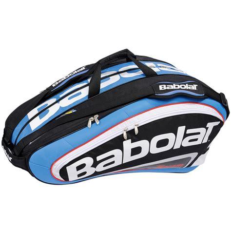 babolat team 12 pack tennis bag black blue