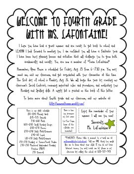back to school welcome letter from to students