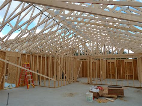 cathedral ceiling trusses roof trusses day 2 quadomated