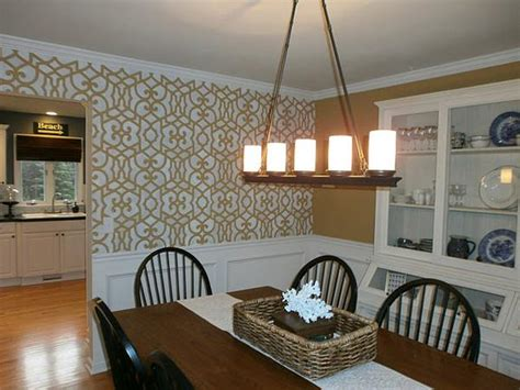 dining room stencils allover moroccan stencil creates a chez chic dining room