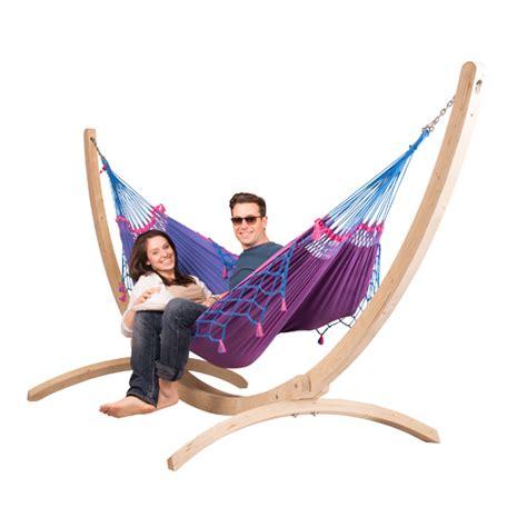 hängematte für 2 personen mit gestell h 228 ngematte mit gestell la siesta biobaumwolle fsc holz