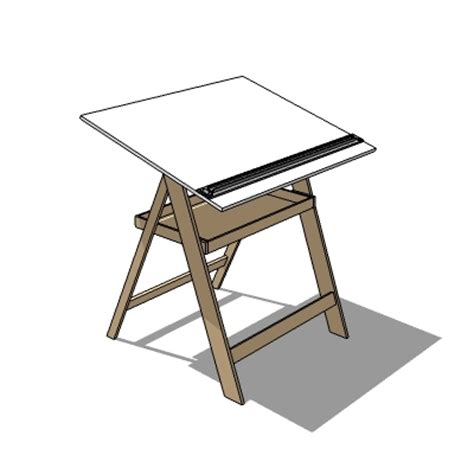 Make A Drafting Table Drawing Table 3d Model Formfonts 3d Models Textures