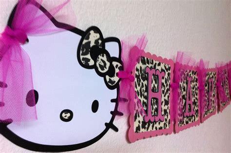 themes line hello kitty leopard hello kitty leopard print birthday decorations stuff for