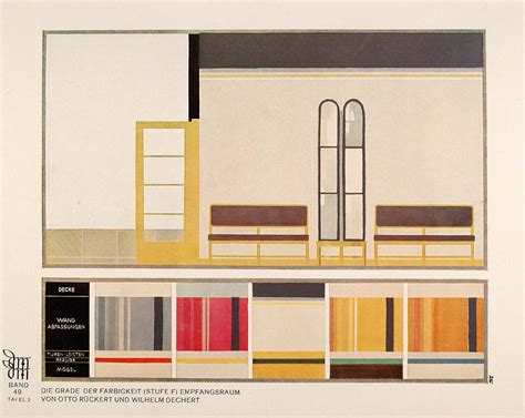 1929 deco interior design room color palette print original ebay