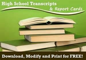 homeschool transcripts and report card templates