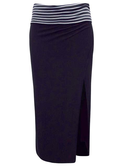 Striped Waist naturana naturana black striped waist skirt
