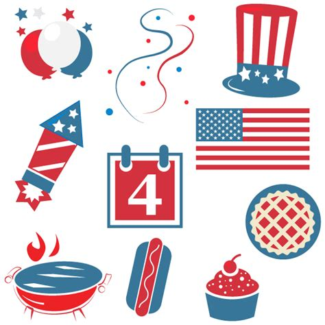 4th of july clipart happy fourth of july clipart 123freevectors