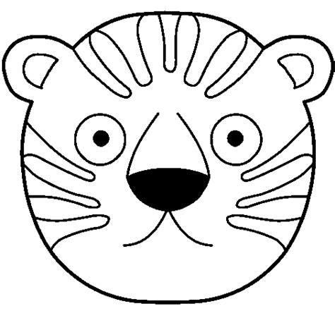 Tiger Mask Coloring Page | tiger mask template coloring pages
