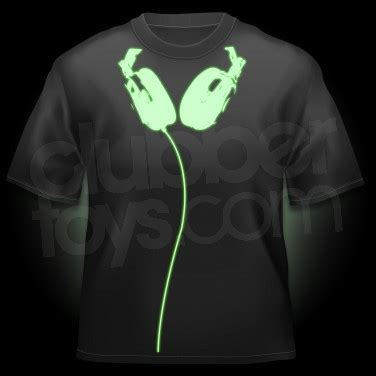 glow in the paint t shirt glow in the headphones t shirt