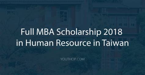 Mba Scholarship In United States by Masters Post Graduate Youth Opportunities