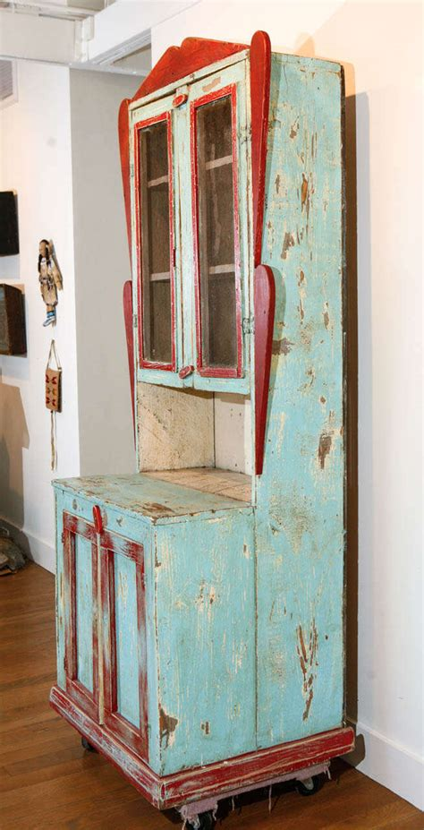 Painted New Mexican Trastero 'Cupboard/Cabinet,' circa 1890 1910 For Sale at 1stdibs