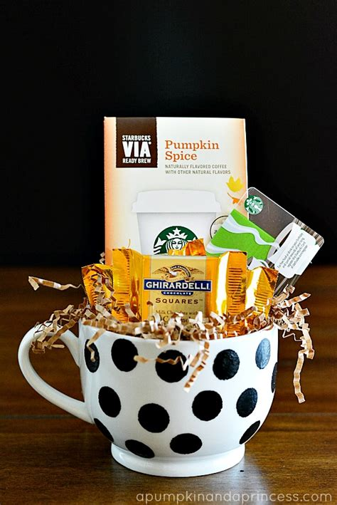 polka dot coffee mug gift a pumpkin and a princess