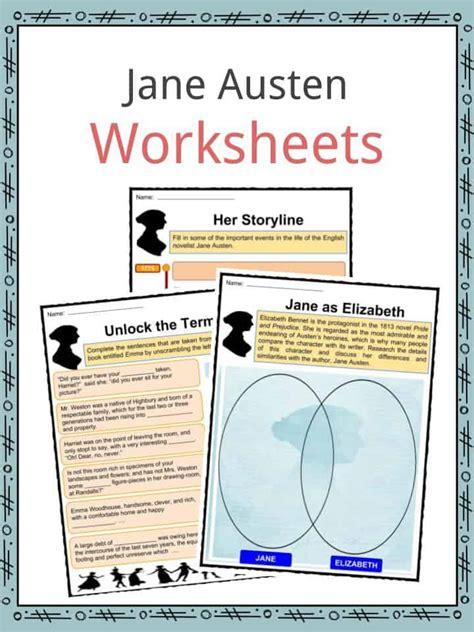 jane austen biography worksheet jane austen facts worksheets novels life biography