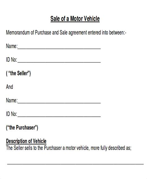 Car Sales Contract Template by 12 Sle Car Sales Contracts Sle Templates