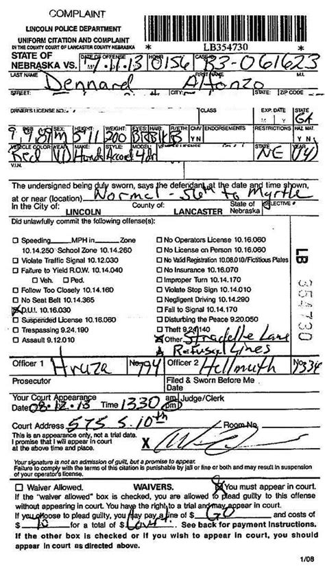 dui report template document report for alfonzo dennard s dui arrest