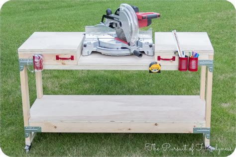 miter saw bench plans ana white diy miter saw stand featuring the pursuit of