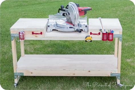 build miter saw bench workbench plans with miter saw free download pdf