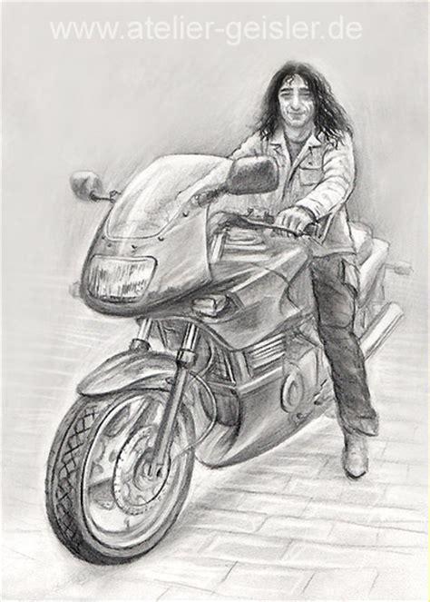 Motorrad Bilder Gemalt by Pin Pferdeportrait Bleistift On