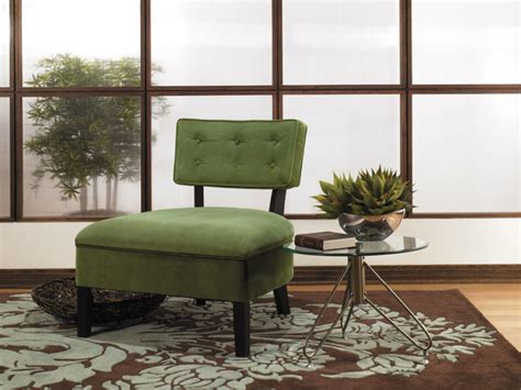 green accent chairs living room avenue six button back living room armless accent chair