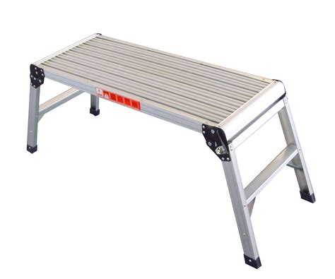 aluminum work bench foxhunter folding step hop up aluminium work bench