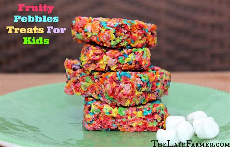 treats for toddlers fruity pebbles treats for