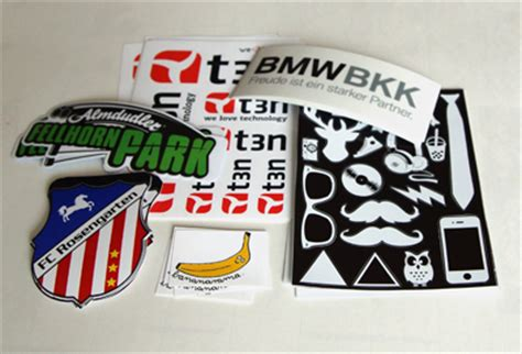 Sticker Drucken Stanzen by Individuelle Aufkleber Im Digitaldruck